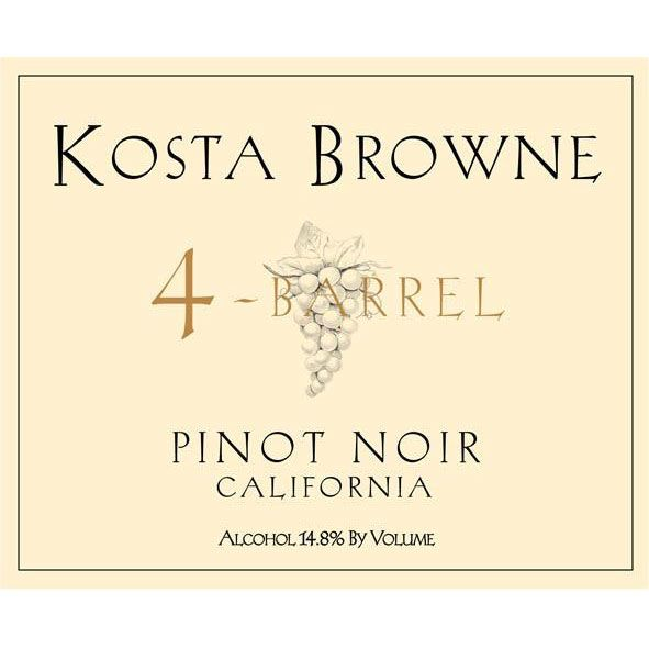 Kosta Browne 4 Barrel Pinot Noir 2006 Front Label