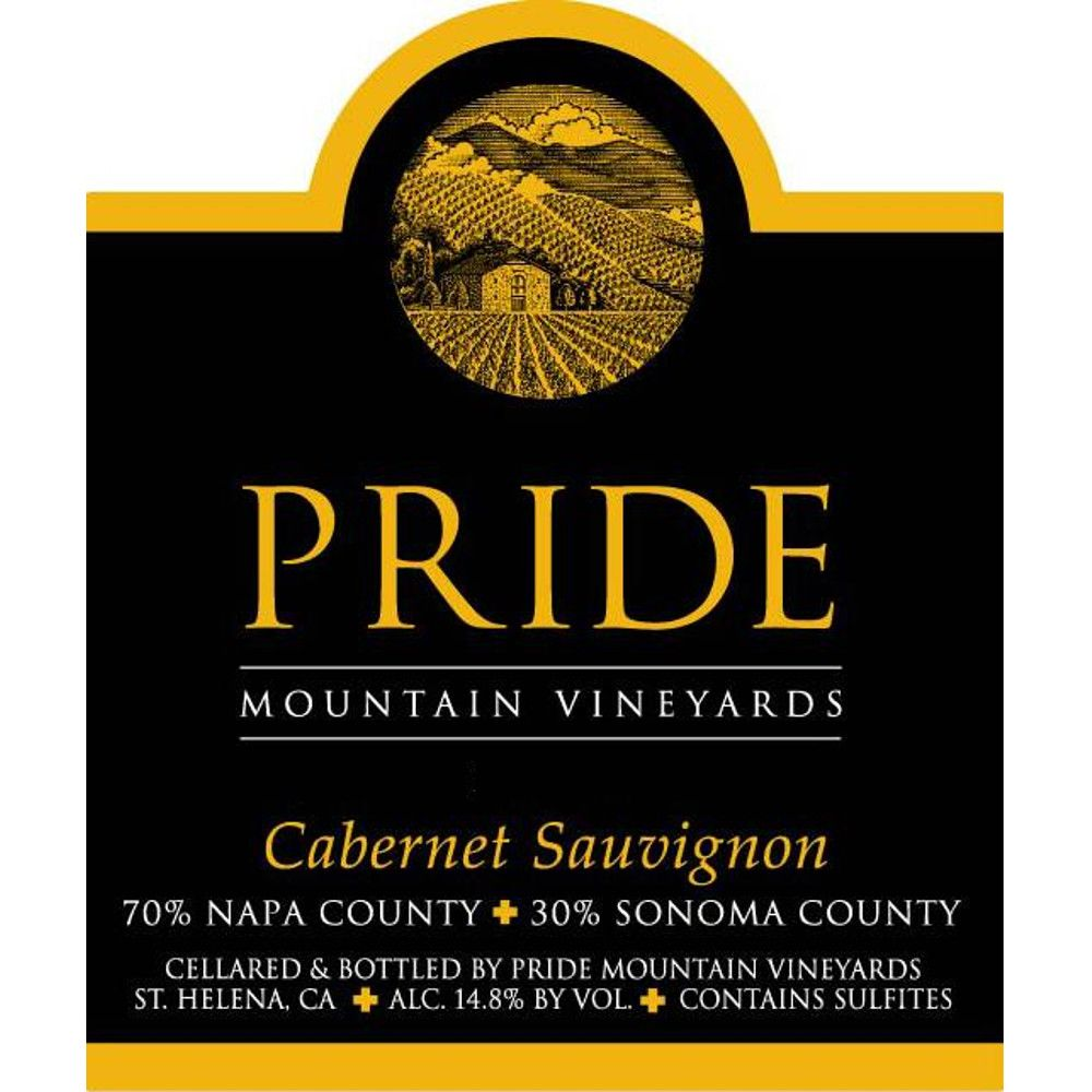Pride Mountain Vineyards Cabernet Sauvignon (375ML half-bottle) 2007 Front Label