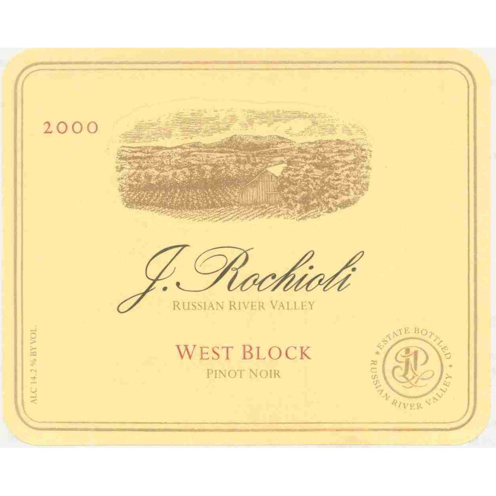 Rochioli West Block Pinot Noir 1994 Front Label