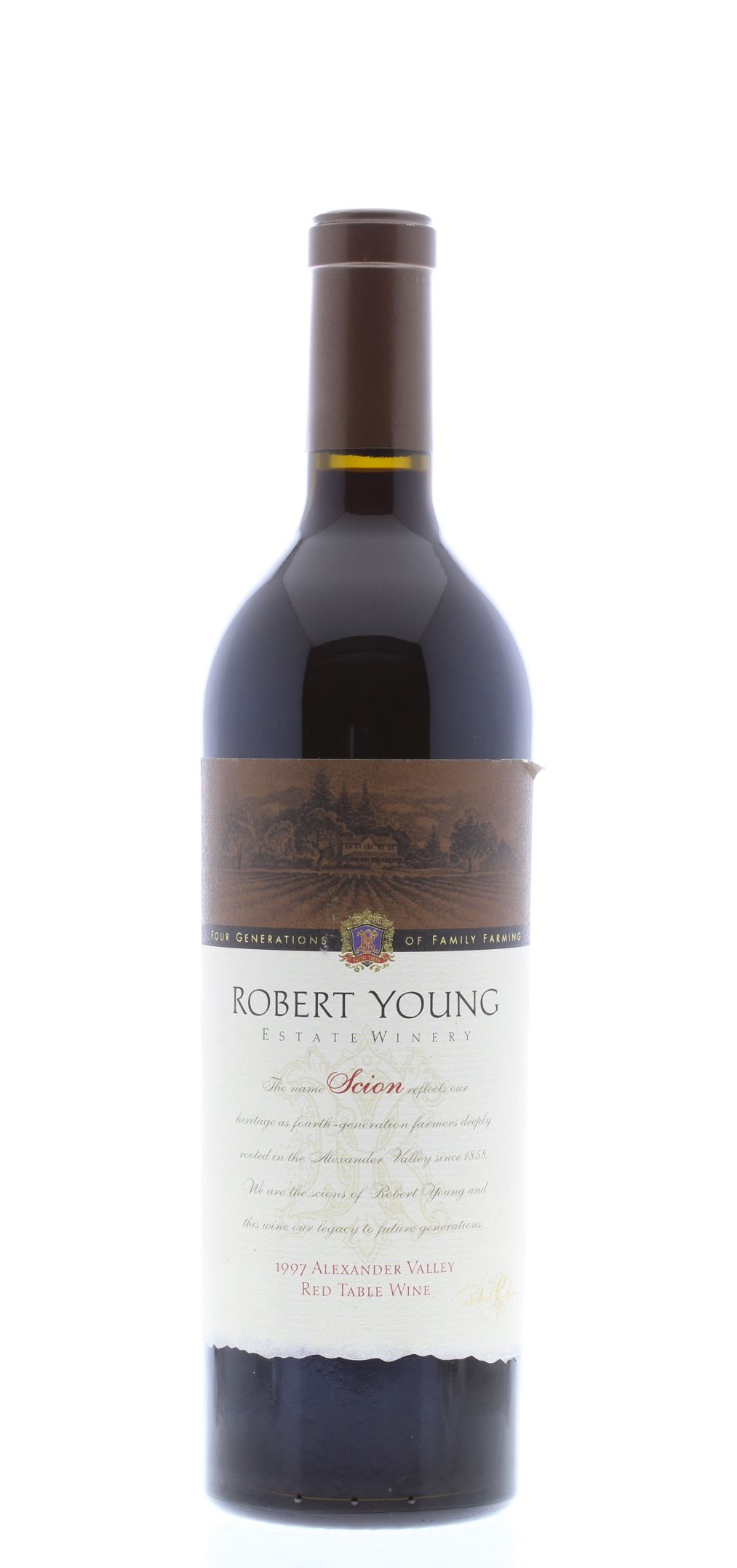 Robert Young Scion Cabernet Sauvignon 1997 Front Bottle Shot