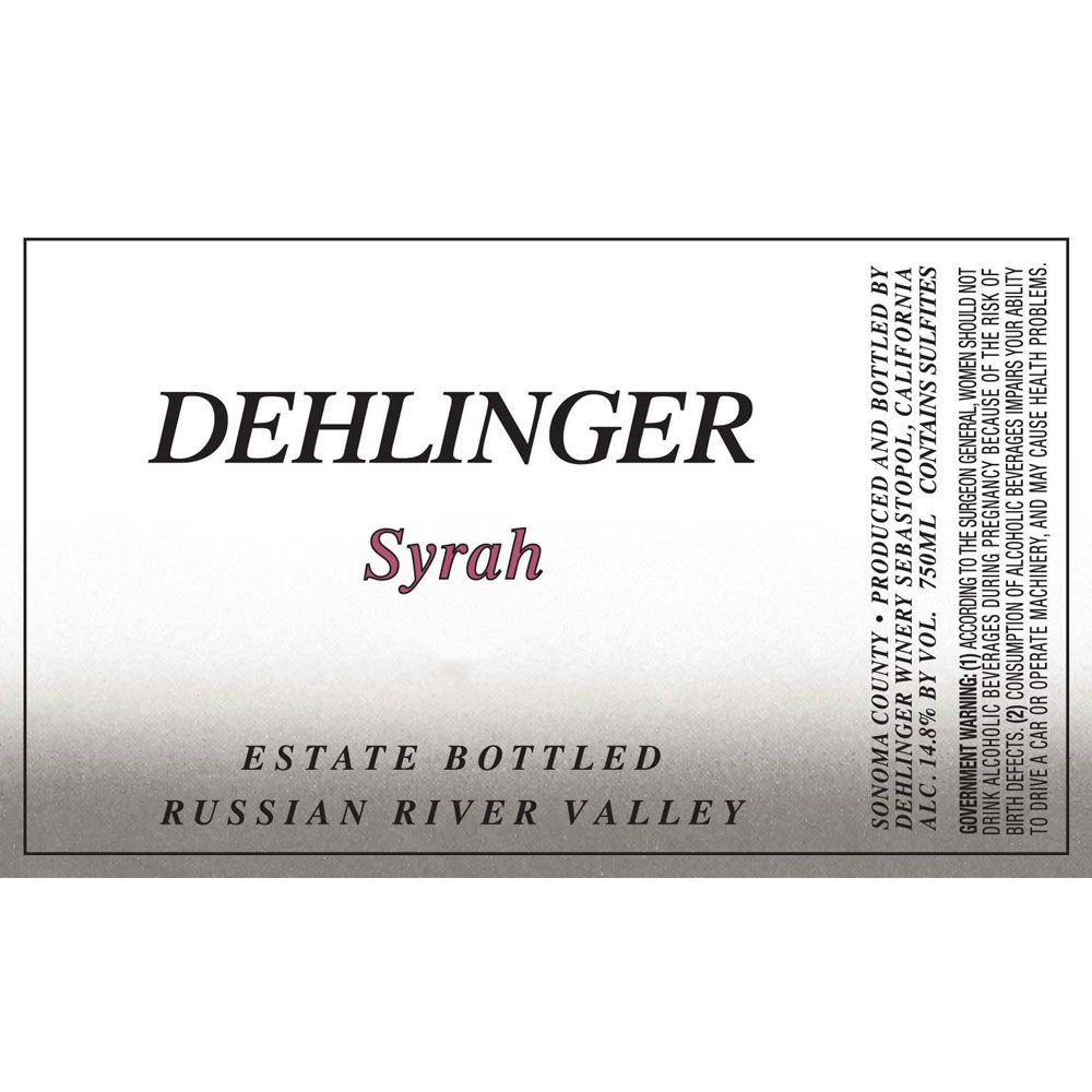Dehlinger Estate Syrah 1997 Front Label