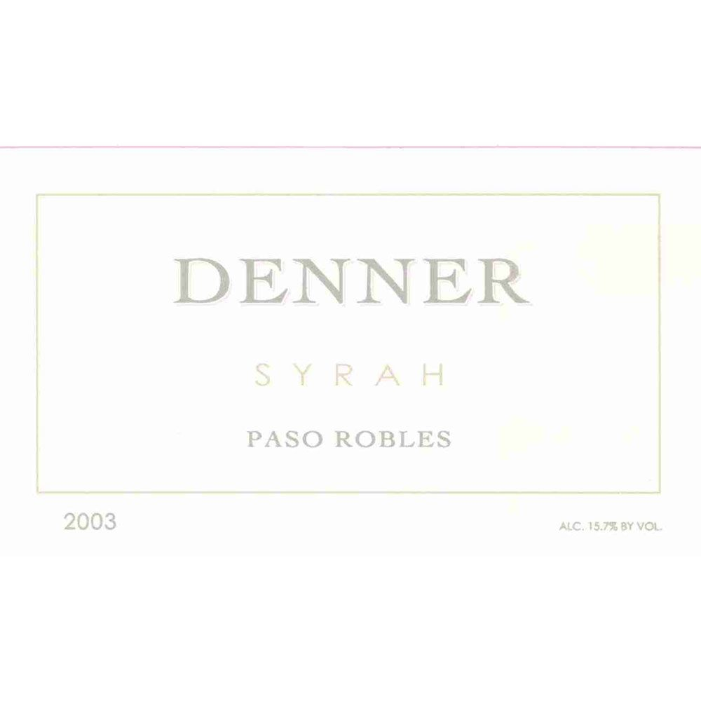 Denner Paso Robles Syrah 2003 Front Label