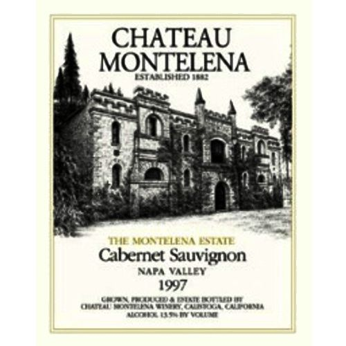 Chateau Montelena Napa Valley Cabernet Sauvignon (high shoulder fill) 1977 Front Label