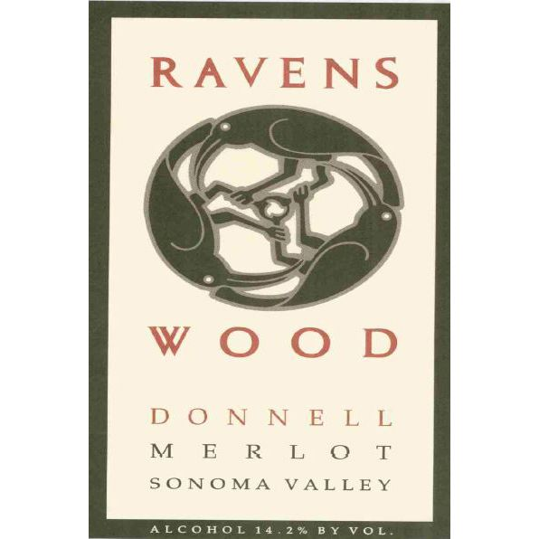 Ravenswood Donnell Ranch Merlot 1996 Front Label