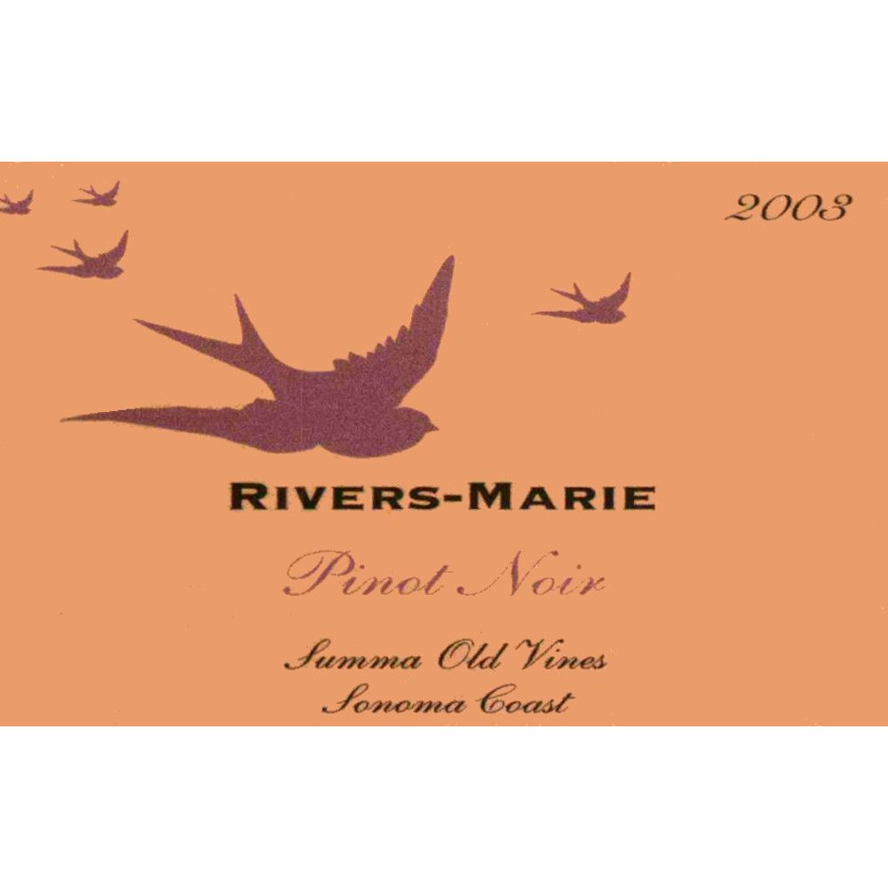 Rivers-Marie Summa Old Vines Vineyard Pinot Noir (1.5 Liter Magnum) 2003 Front Label