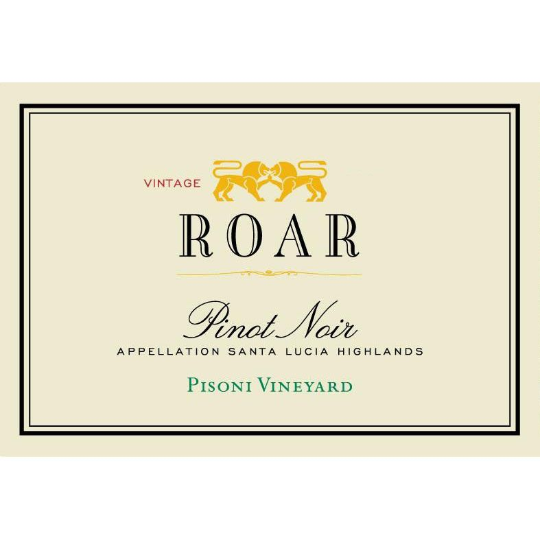 Roar Pisoni Vineyard Pinot Noir (slightly torn label) 2001 Front Label