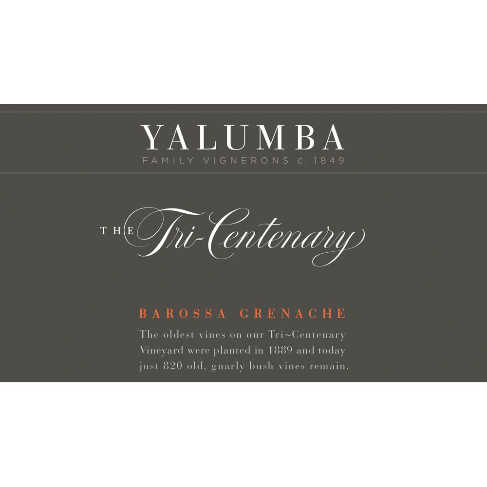 Yalumba Tri-Centenary Vineyard Grenache 2011 Front Label