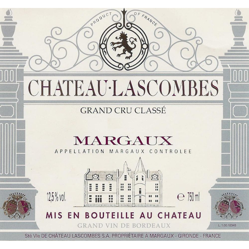 Chateau Lascombes (375ML half-bottle) 2004 Front Label