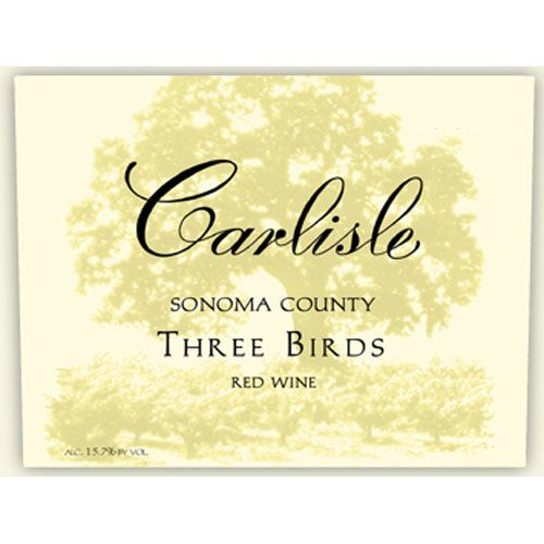 Carlisle Three Birds Red 2003 Front Label
