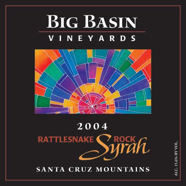 Big Basin Rattlesnake Rock Syrah 2004 Front Label
