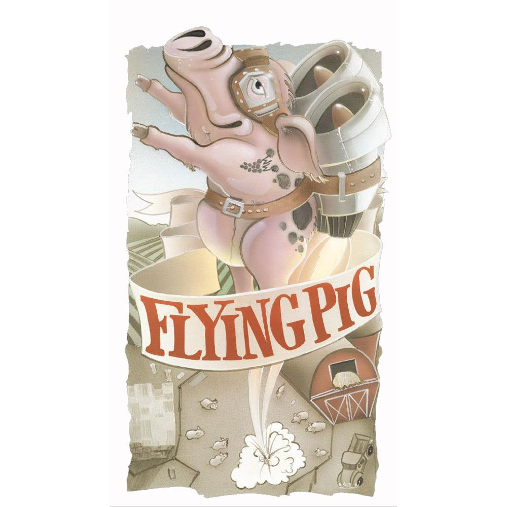 Cayuse Flying Pig 2009 Front Label