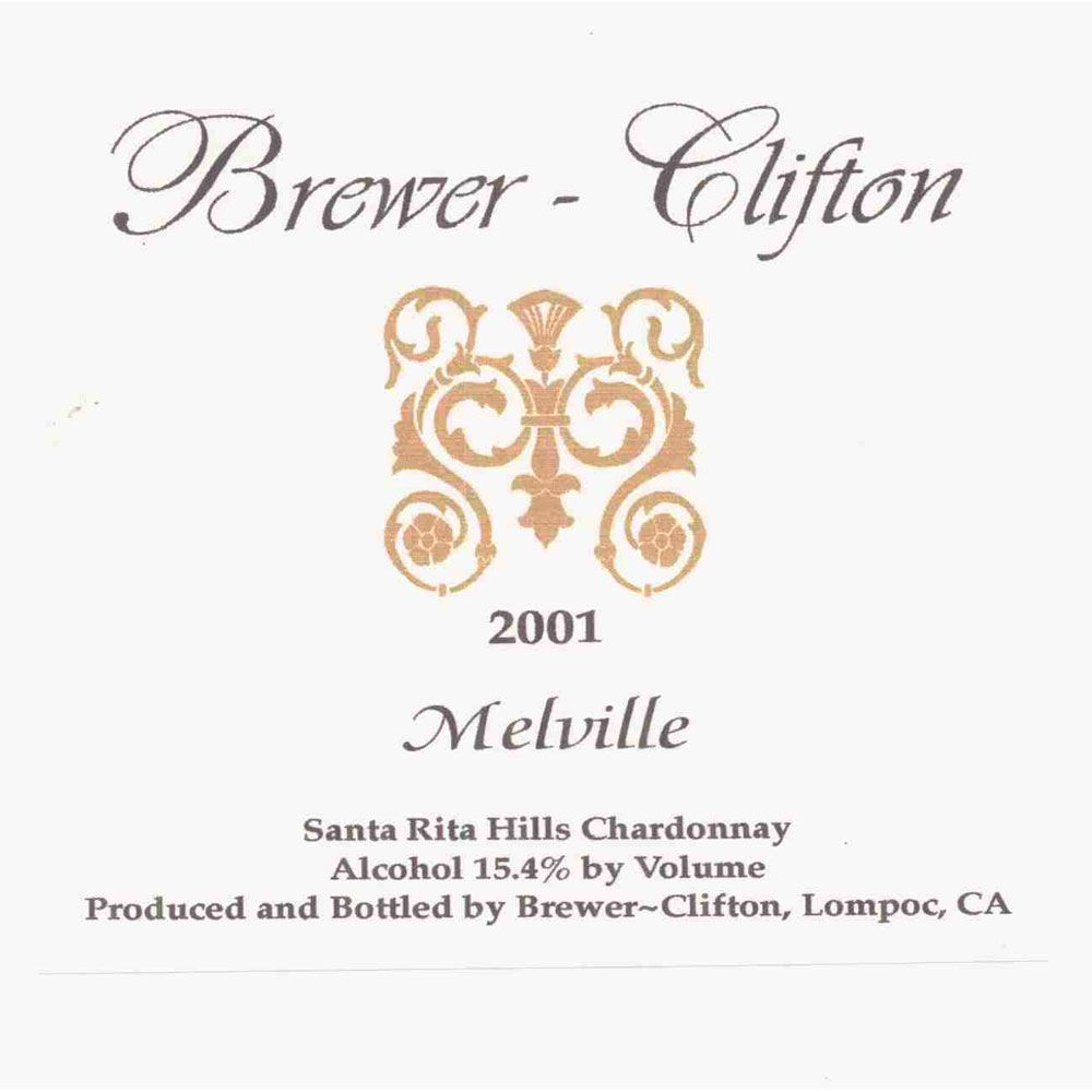 Brewer-Clifton Melville Chardonnay 2001 Front Label
