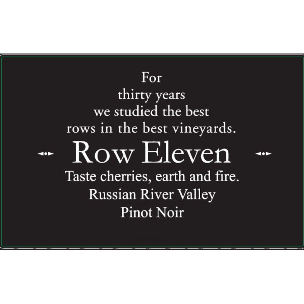 Row Eleven Russian River Pinot Noir 2015 Front Label