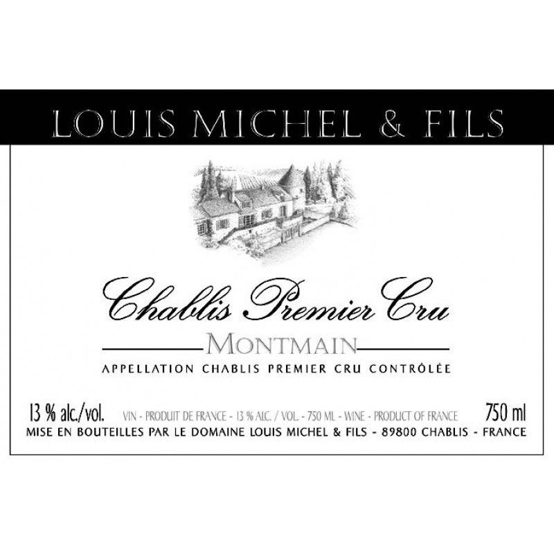 Domaine Louis Michel et Fils Chablis Montmain Premier Cru (375ML half-bottle) 2005 Front Label