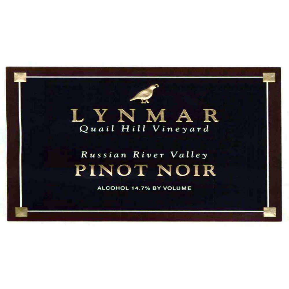 Lynmar Winery Estate Requiem Quail Hill Vineyard Pinot Noir 1999 Front Label