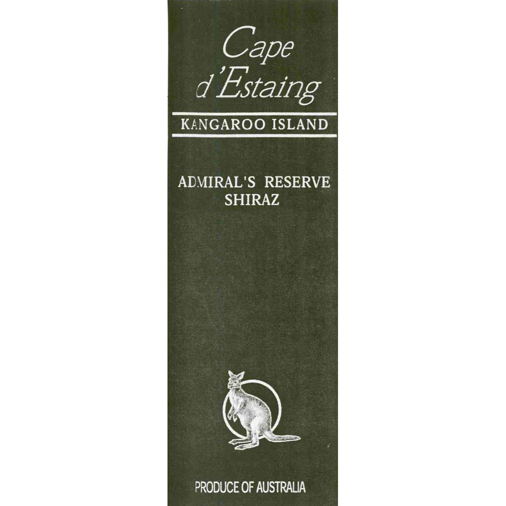 Cape d'Estaing Kangaroo Island Admiral's Reserve Shiraz (1.5L Magnum) 2001 Front Label