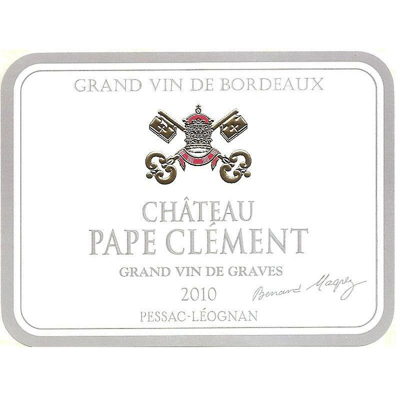 Chateau Pape Clement Blanc 2011 Front Label