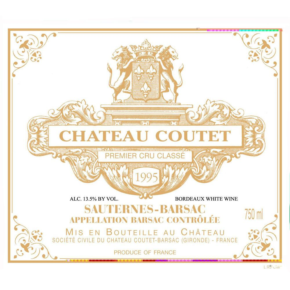 Chateau Coutet  1995 Front Label