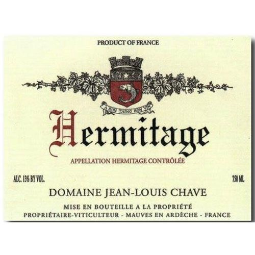 Jean-Louis Chave Hermitage 1983 Front Label