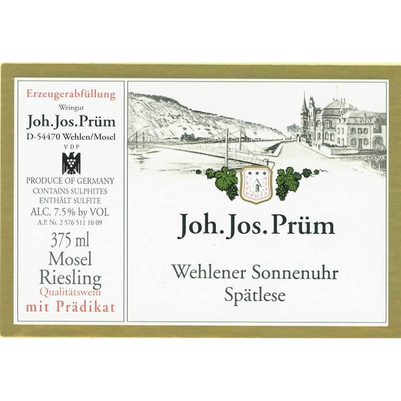 J.J. Prum Wehlener Sonnenuhr Spatlese Riesling AP #1206 (scuffed label) 2005 Front Label