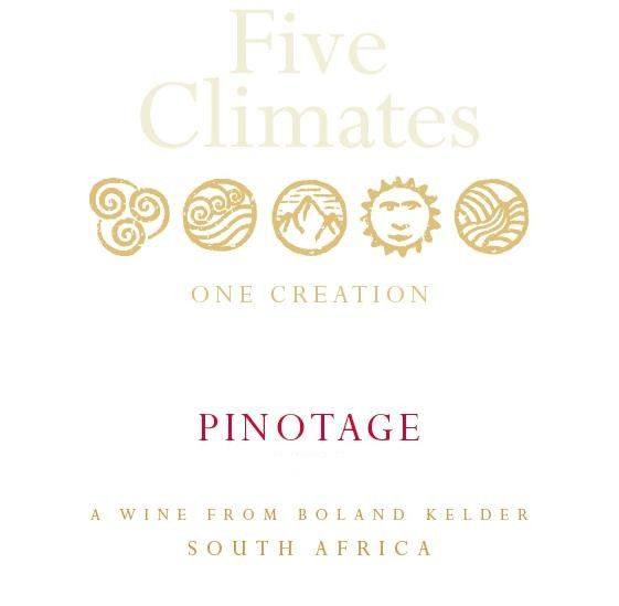 Bolland Cellar Five Climates Pinotage 2010 Front Label
