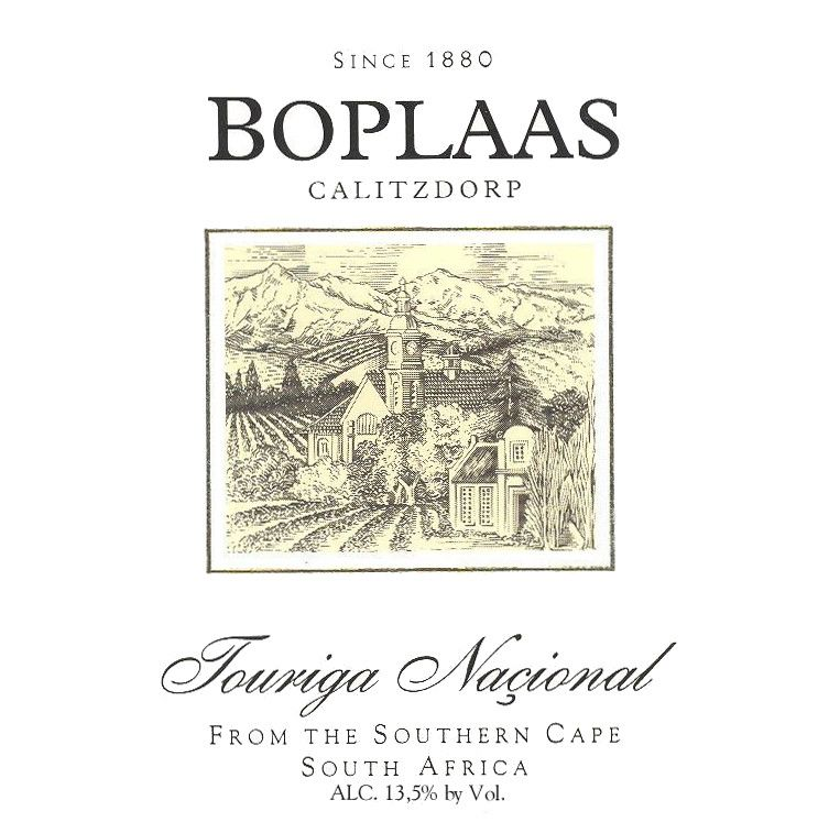 Boplaas Touriga Nacional 2006 Front Label