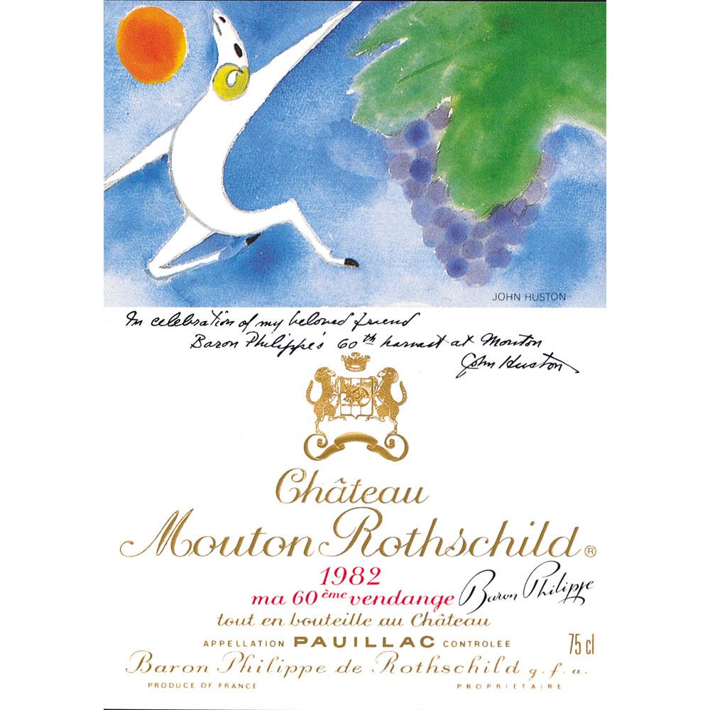 Chateau Mouton Rothschild (top shoulder fill) 1982 Front Label