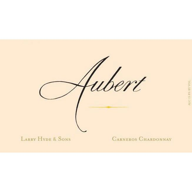 Aubert Larry Hyde & Sons Vineyard Chardonnay 2015 Front Label
