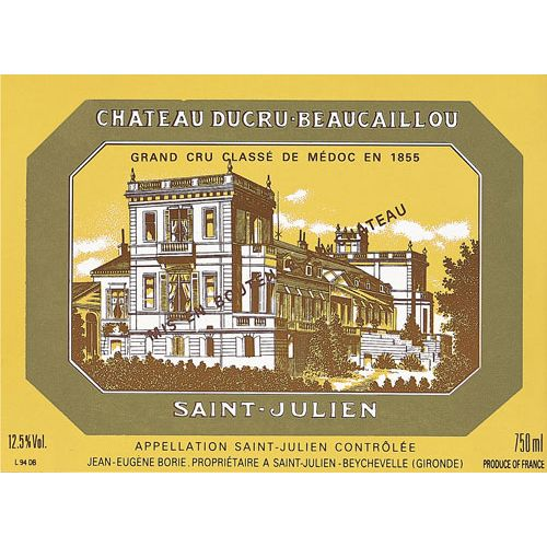 Chateau Ducru-Beaucaillou  1995 Front Label