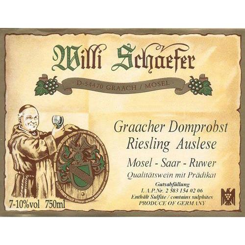 Weingut Willi Schaefer Graacher Domprobst Riesling Auslese A P#1403 (375ml half-bottle) 2002 Front Label