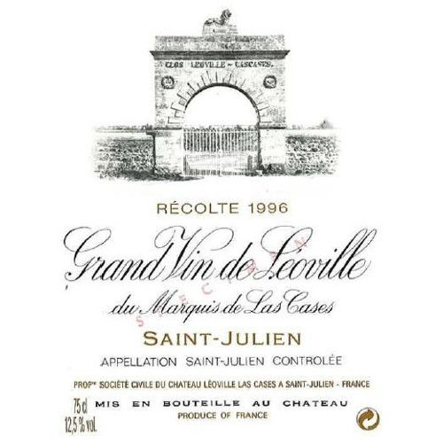 Chateau Leoville Las Cases  1996 Front Label