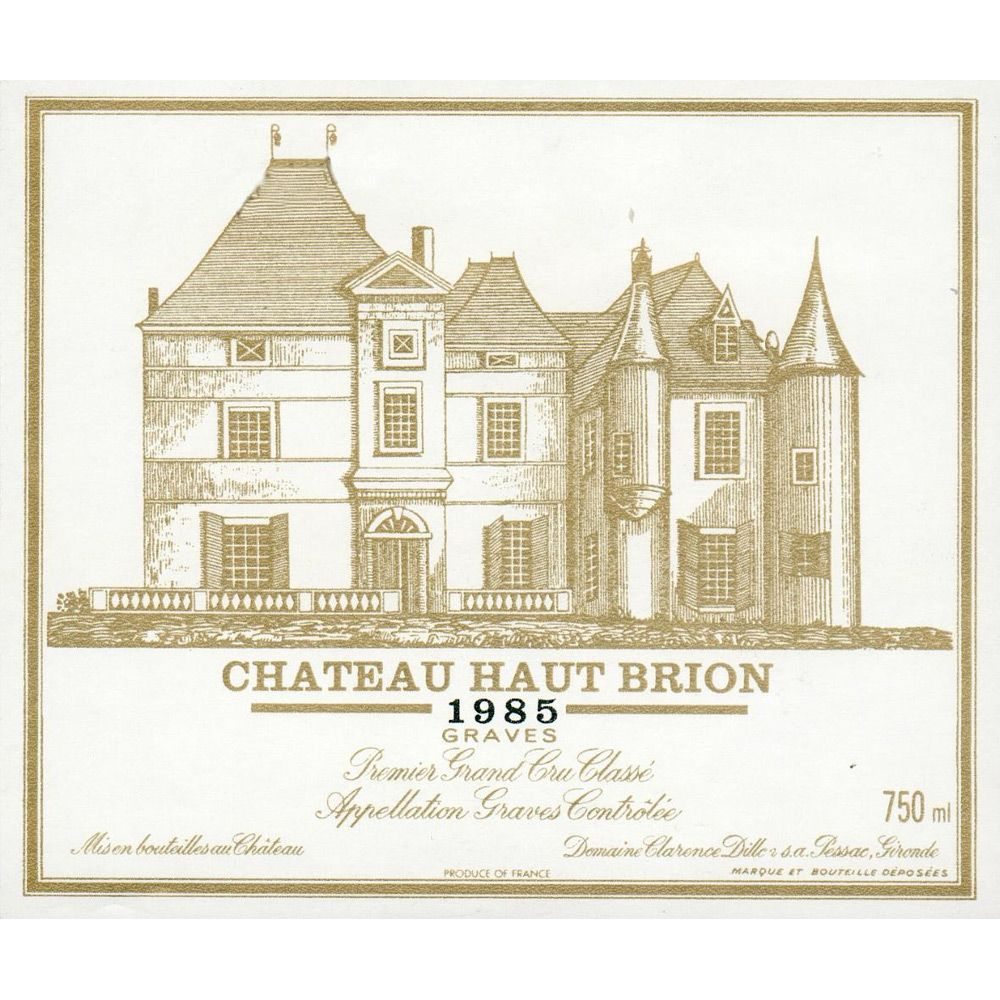 Chateau Haut-Brion  1985 Front Label