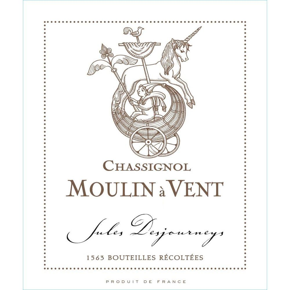 Domaine Jules Desjourneys Moulin-a-Vent Chassignol 2009 Front Label