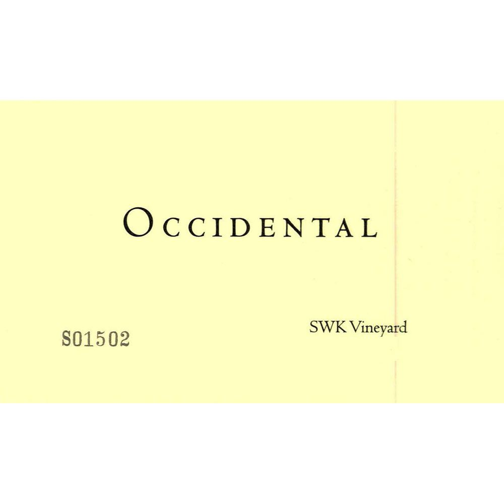 Occidental SWK Vineyard Pinot Noir 2014 Front Label