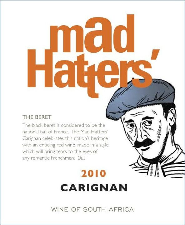 Bovlei Winery Mad Hatter's Carignan 2010 Front Label