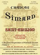 Chateau Simard Saint-Emilion (half-bottle) 1989 Front Label
