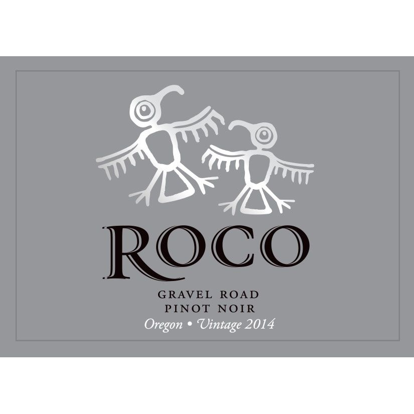 Roco Gravel Road Pinot Noir 2014 Front Label