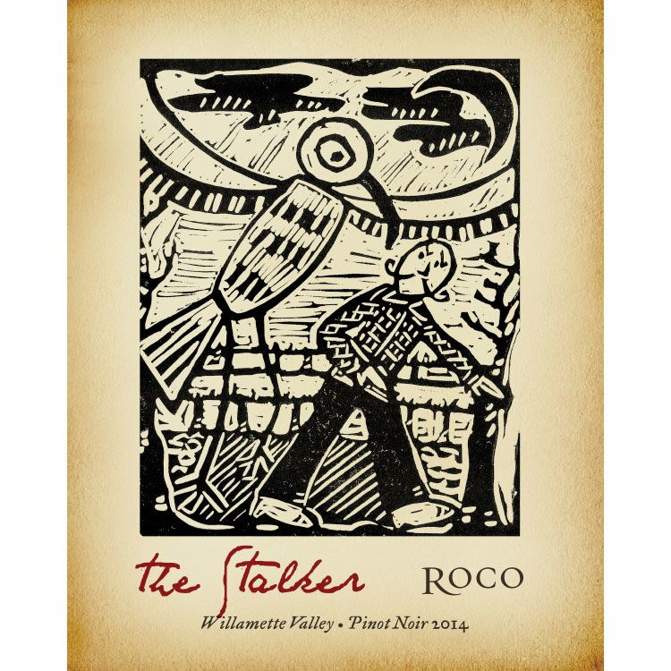 Roco The Stalker Pinot Noir 2014 Front Label