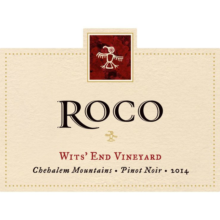 Roco Wits' End Pinot Noir 2014 Front Label
