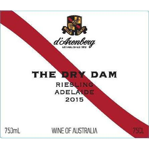 d'Arenberg The Dry Dam Riesling 2015 Front Label