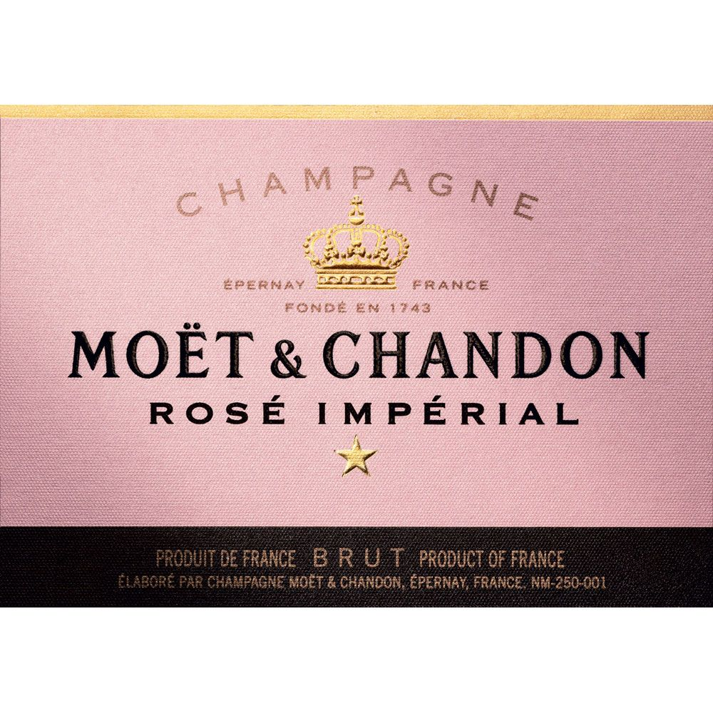 Moet & Chandon Rose Imperial Front Label