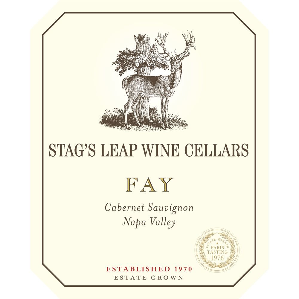 Stag's Leap Wine Cellars Fay Vineyard Cabernet Sauvignon 1997 Front Label