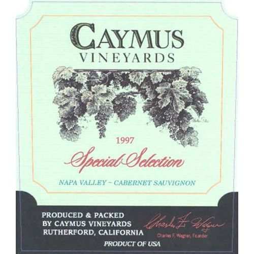 Caymus Special Selection Cabernet Sauvignon 1997 Front Label