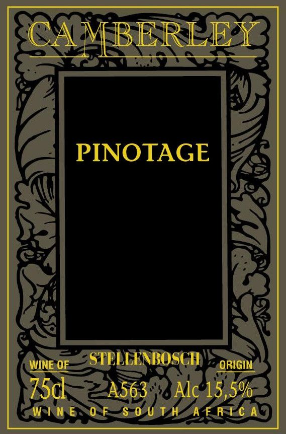 Camberley Pinotage 2008 Front Label
