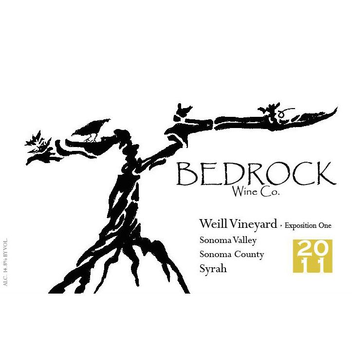 Bedrock Wine Company Weill Exposition Syrah 2011 Front Label