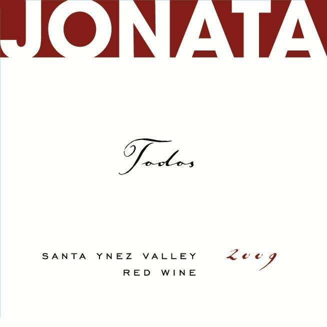 Jonata Todos Proprietary Red Wine 2009 Front Label