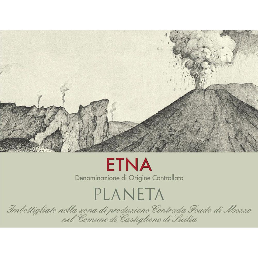 Planeta Etna Rosso 2015 Front Label