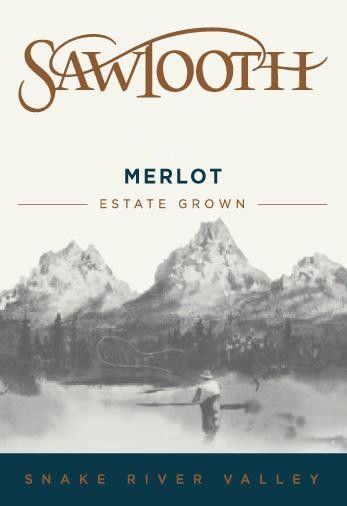 Sawtooth Merlot 2012 Front Label