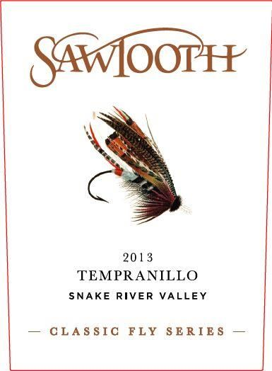 Sawtooth  Classic Fly Series Tempranillo 2013 Front Label