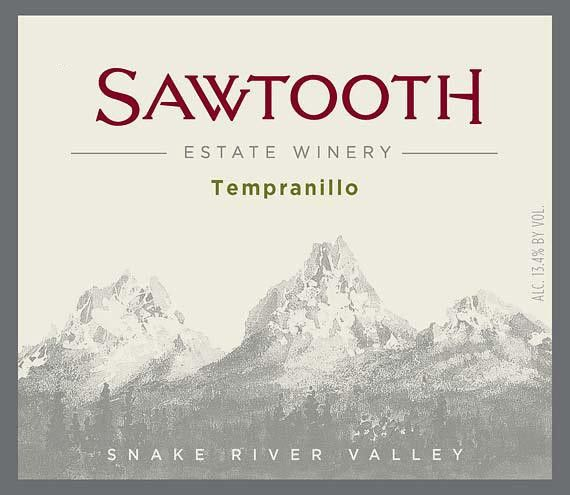 Sawtooth Tempranillo 2012 Front Label